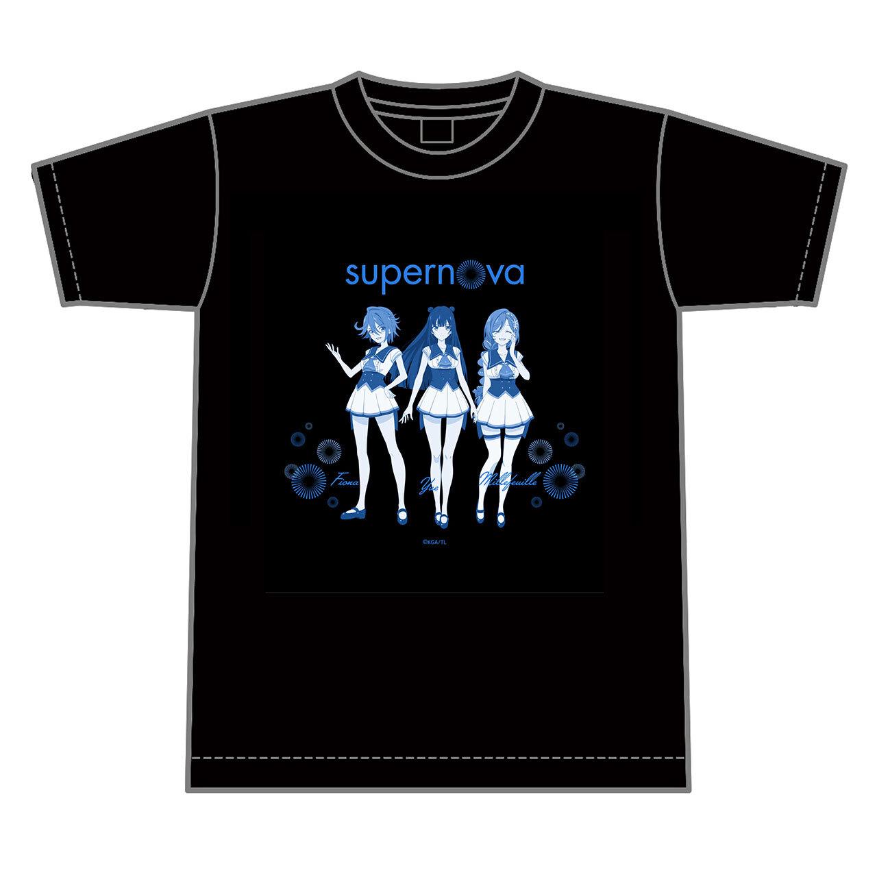 【4589839354653予】ラピスリライツ supernova Tシャツ 黒/Lサイズ