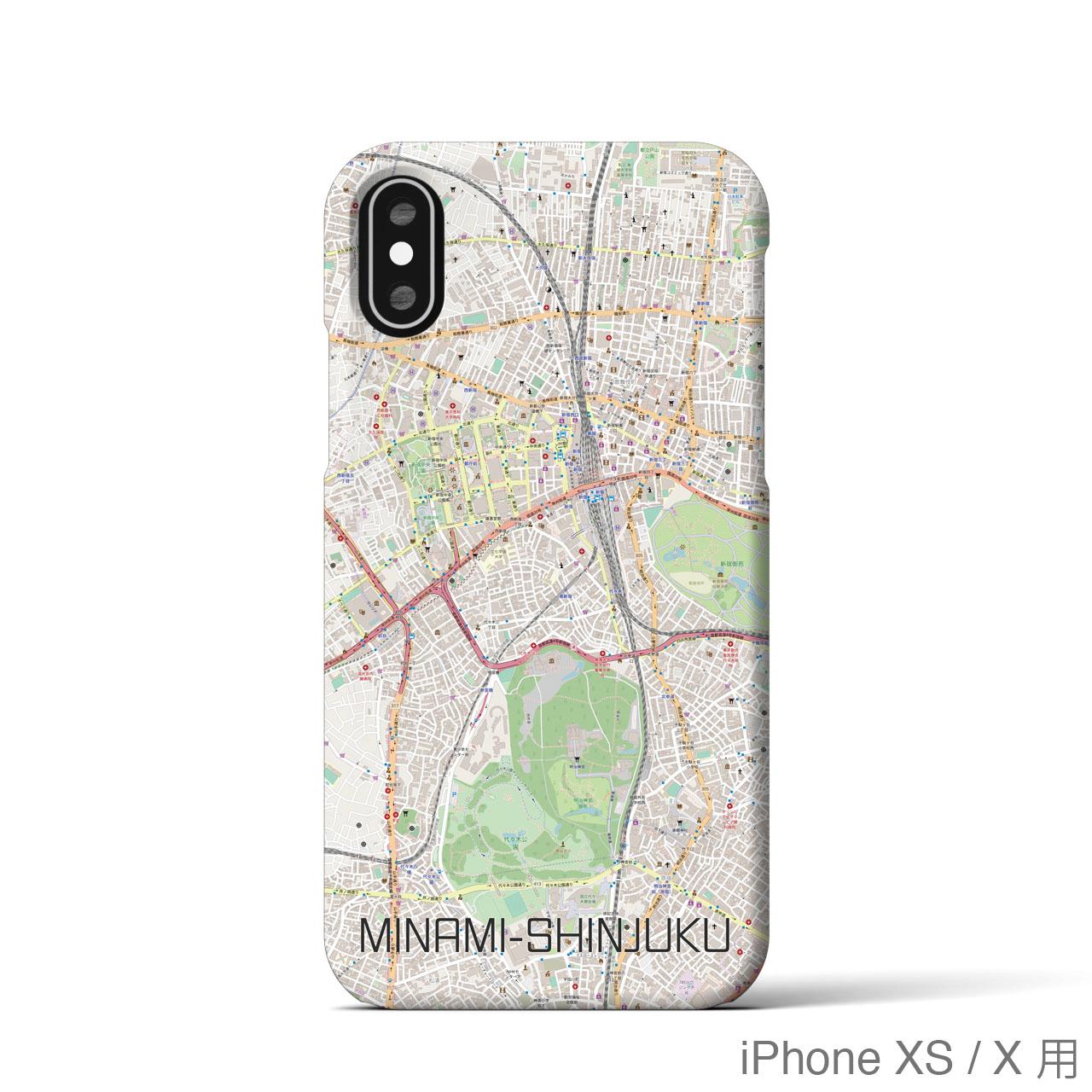 【南新宿】地図柄iPhoneケース(ナチュラル)
