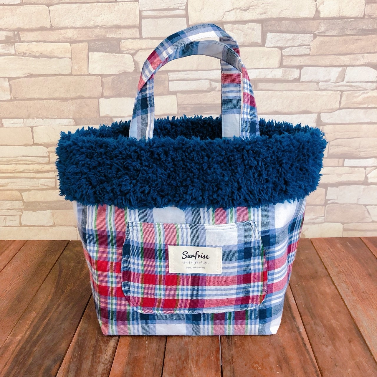 MC tote bag -  Red/Navy