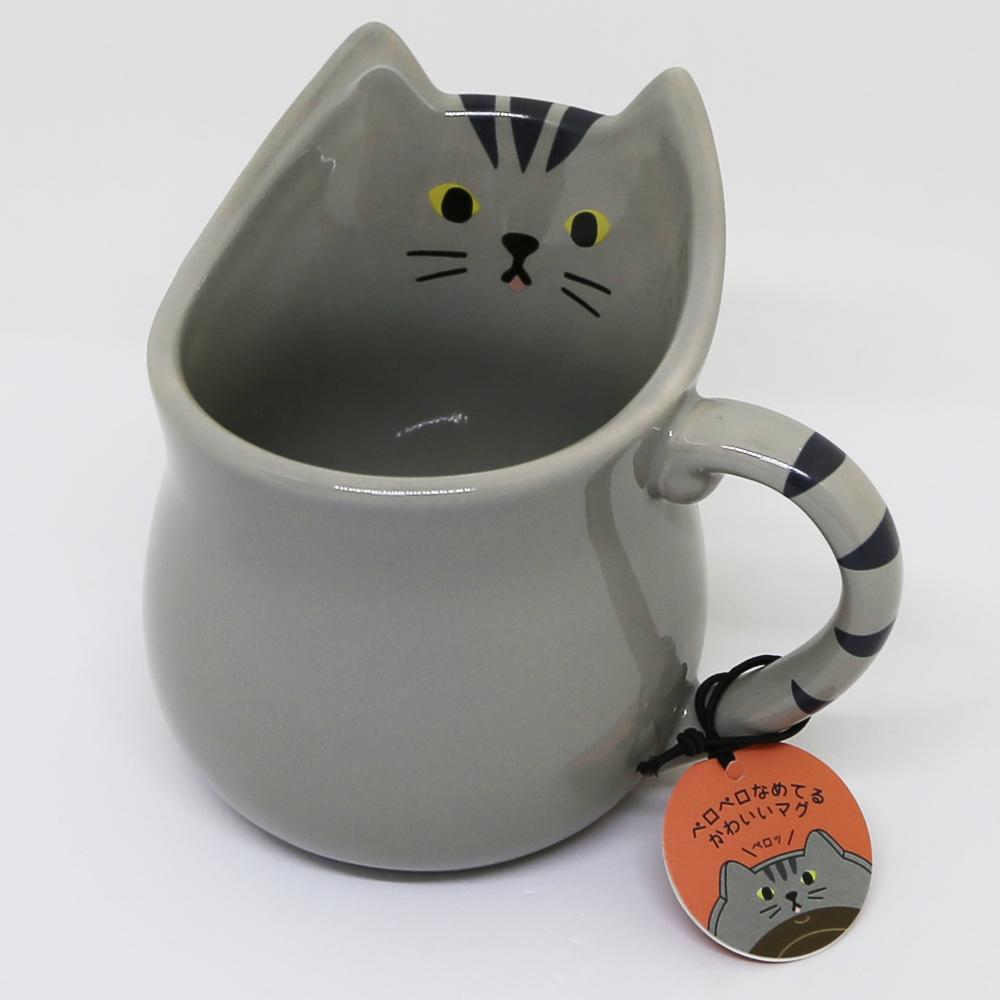 猫マグカップ(ぺろマグ)さばとら