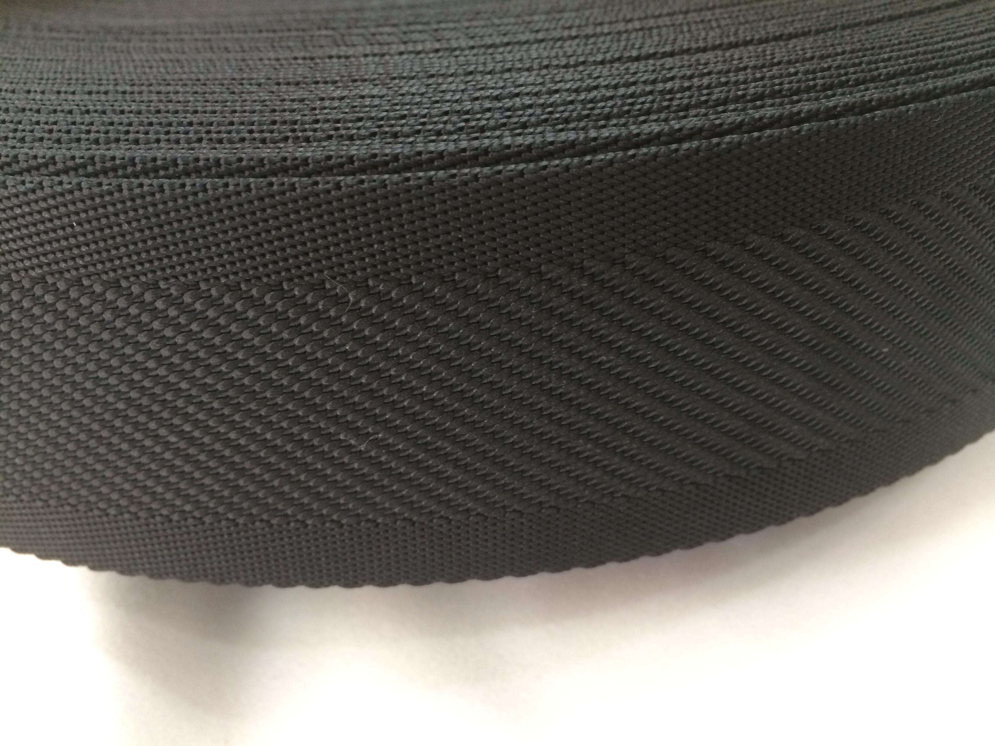 ナイロンテープ  中綾織  50mm幅  1.5mm厚  黒  5m