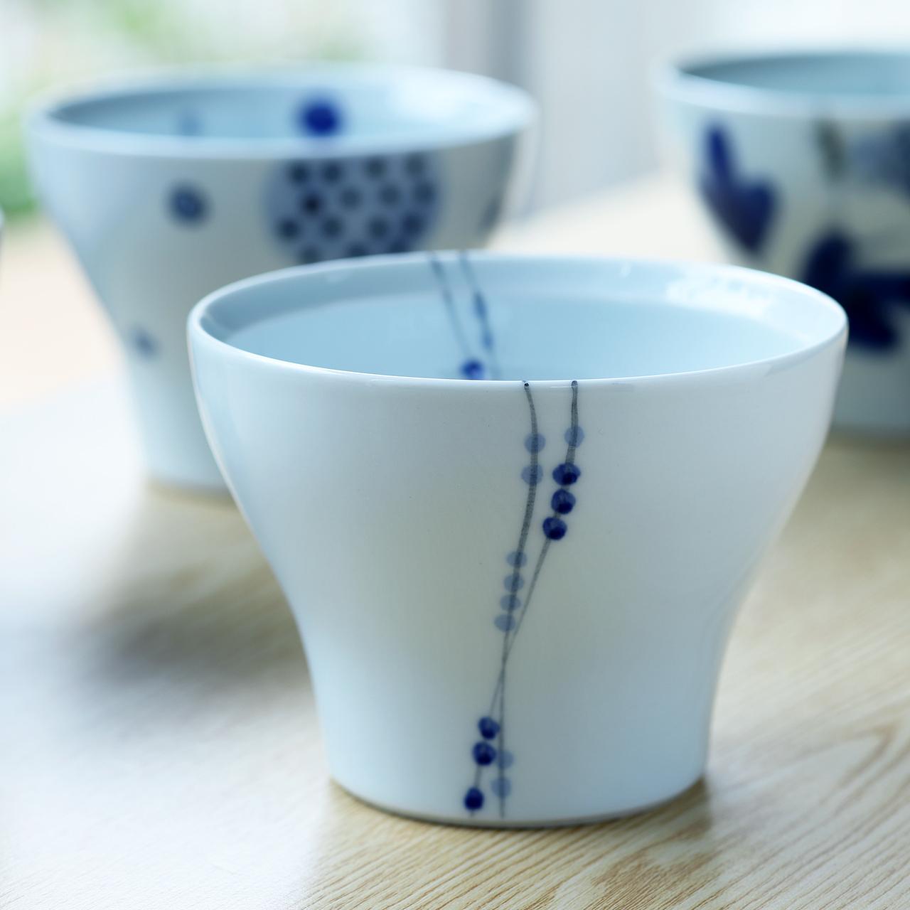 点つなぎ 和カップ 作:陶房 青(波佐見焼)