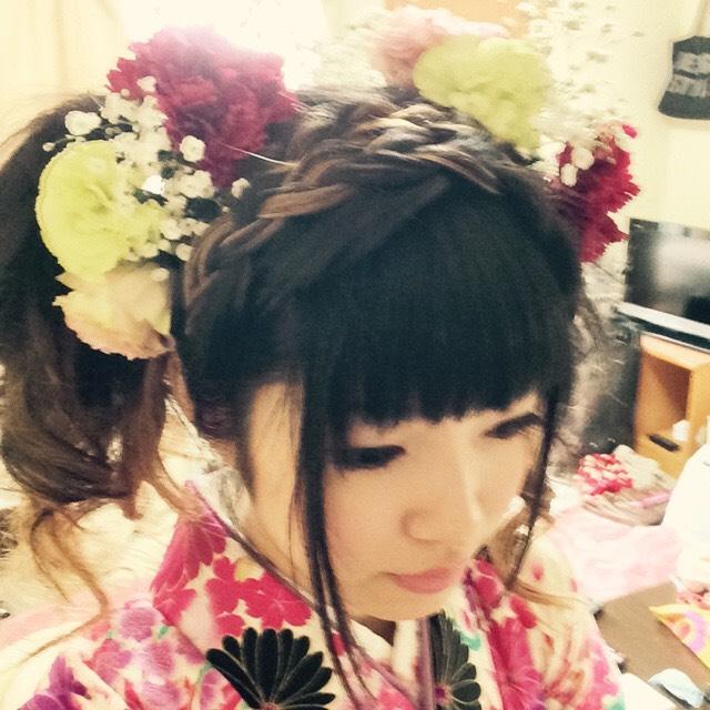 【生花髪飾り中輪1本】成人式・卒業式で目立ちたい!他の方とは違うものを着けたい!方へ - 画像4