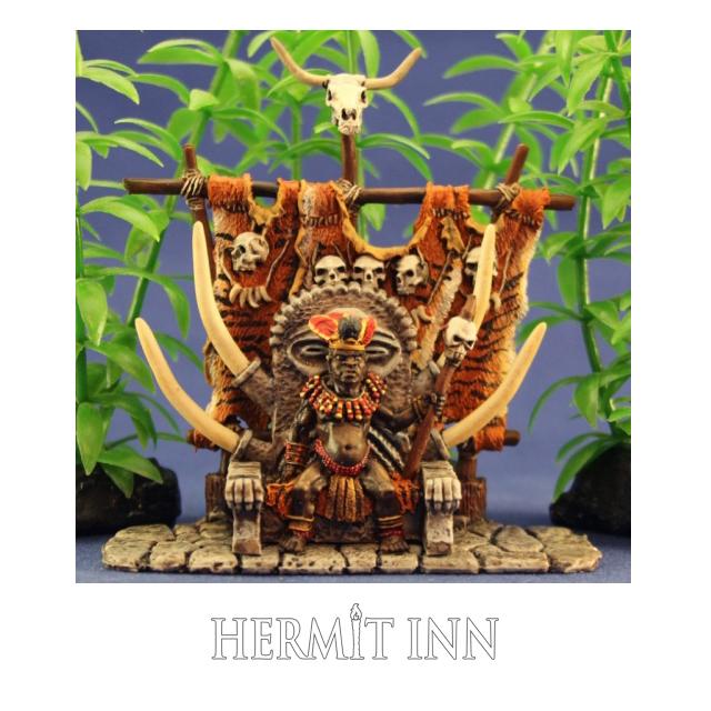 玉座に座る人食い部族の大王 - 画像1