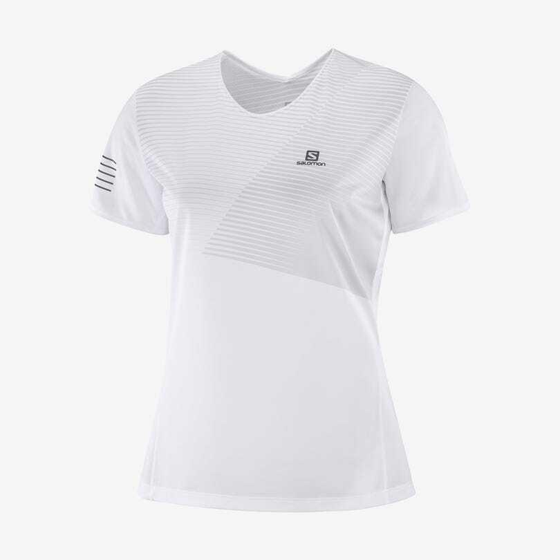 Salomon サロモン SENSE TEE  W   WHITE ウィメンズ/レディース センス Tシャツ ホワイト LC1479900