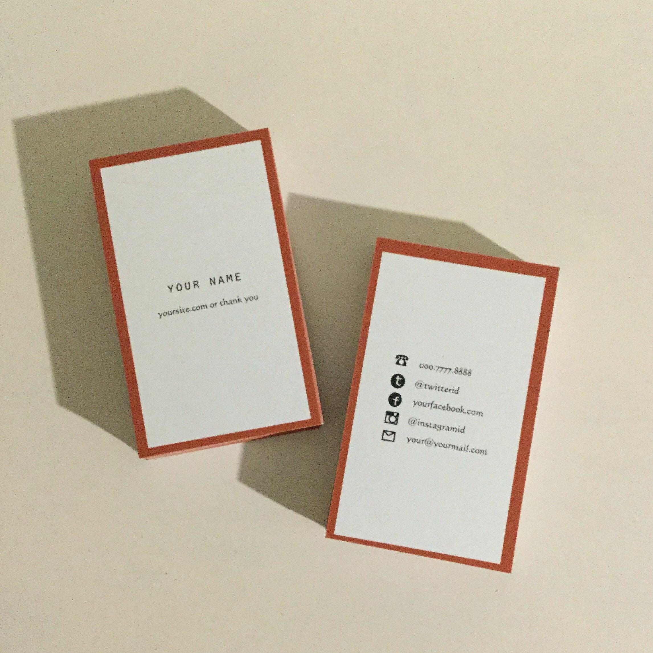 05d5_or【100枚】パーソナル名刺【ショップカード】