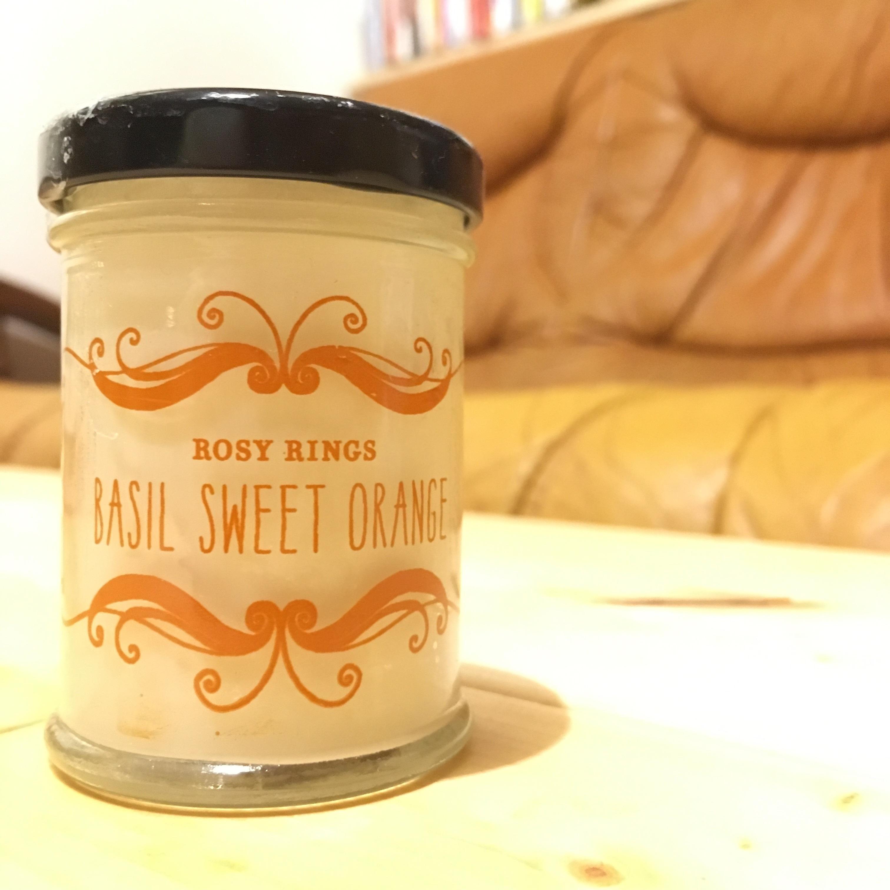 JAR CANDLE [BASIL SWEET ORANGE]