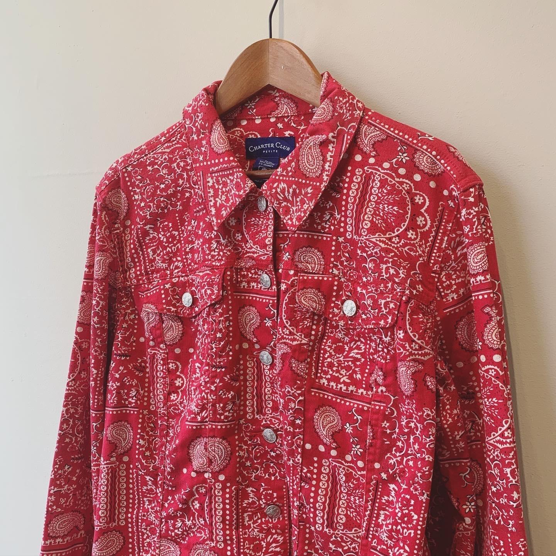 vintage  bandanna design jacket