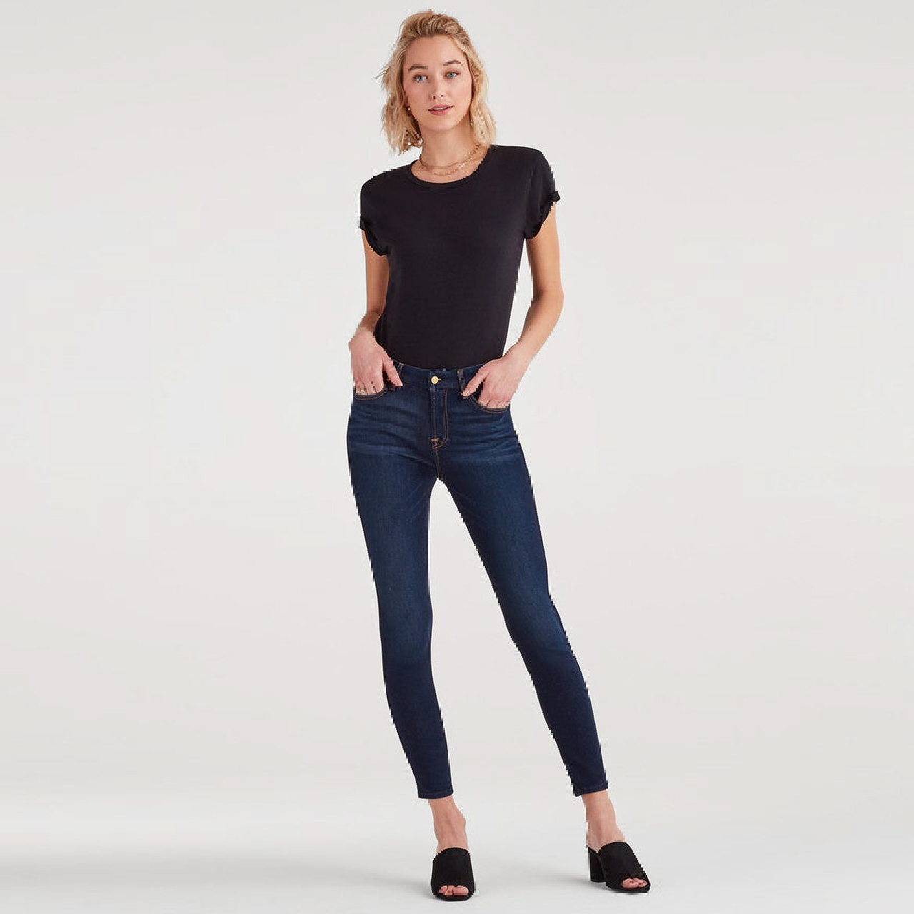 High Waist Ankle Skinny - SXTT