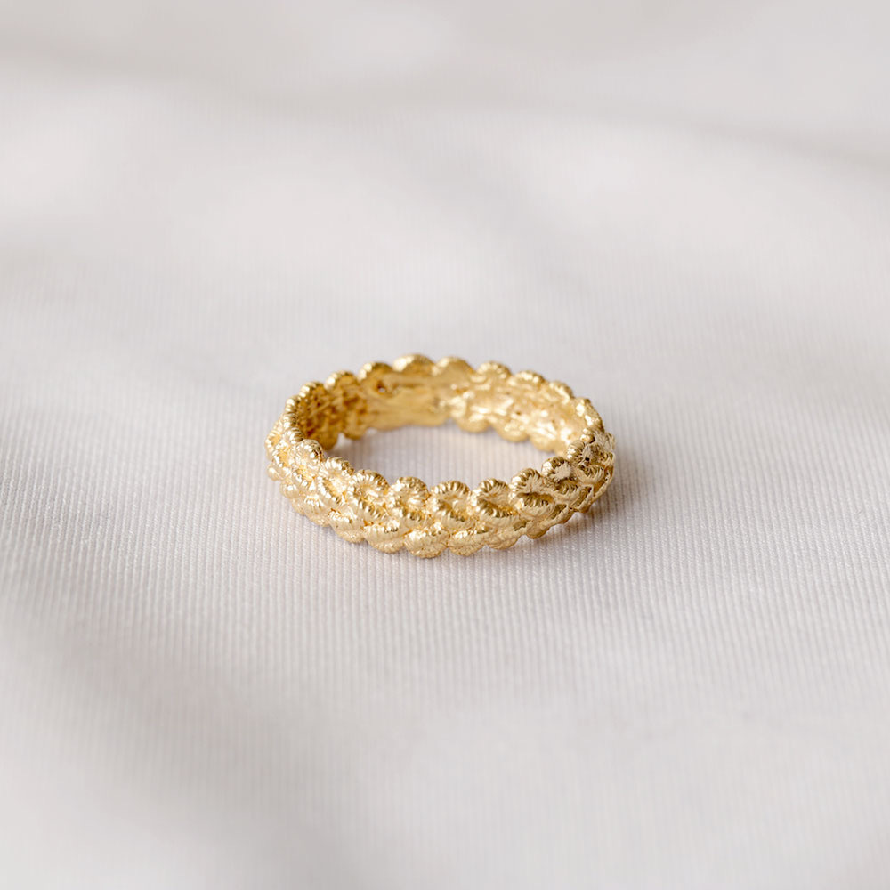 lace ring (gold)