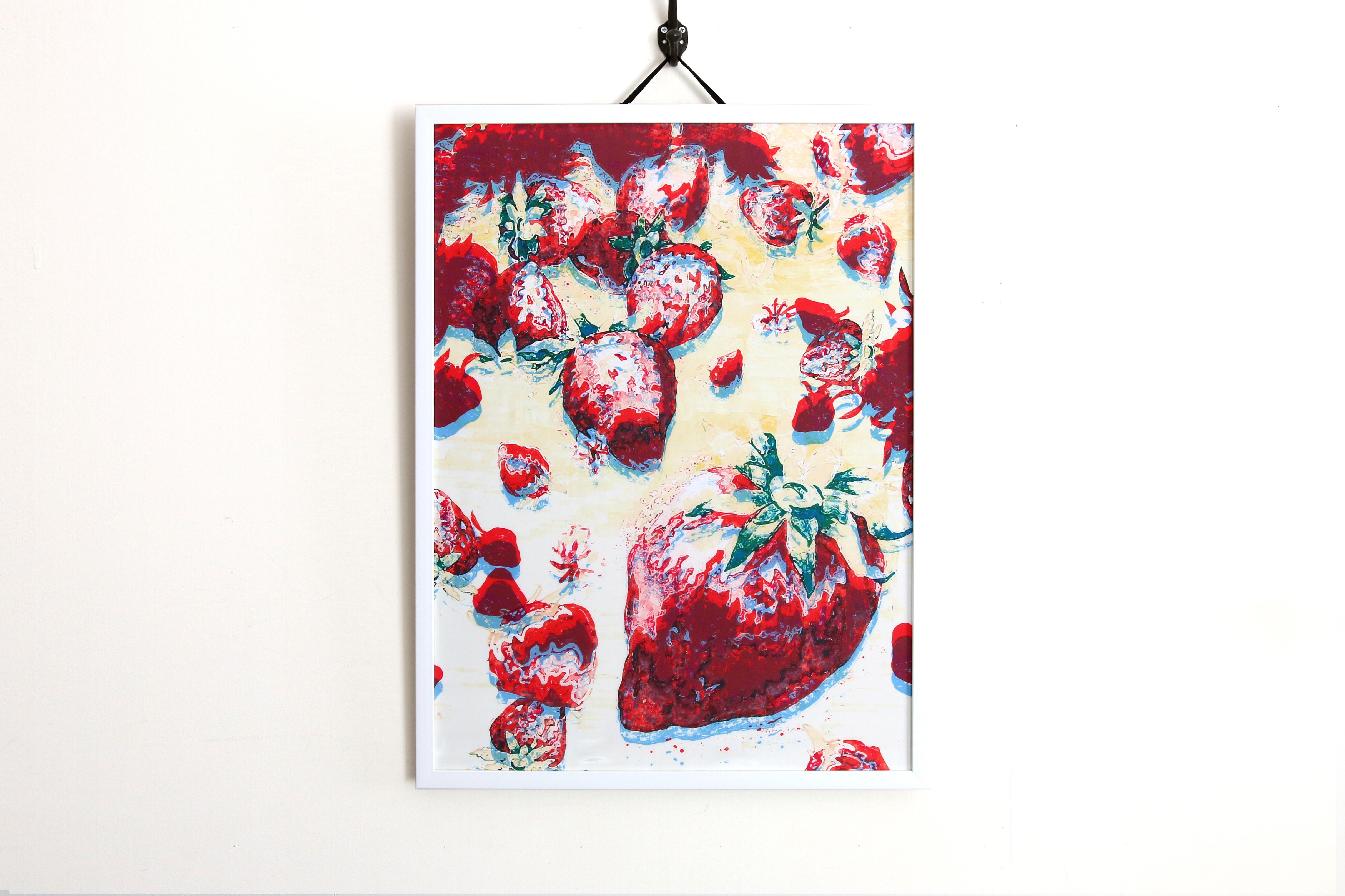 【アートフレーム】Strawberries -Addict-