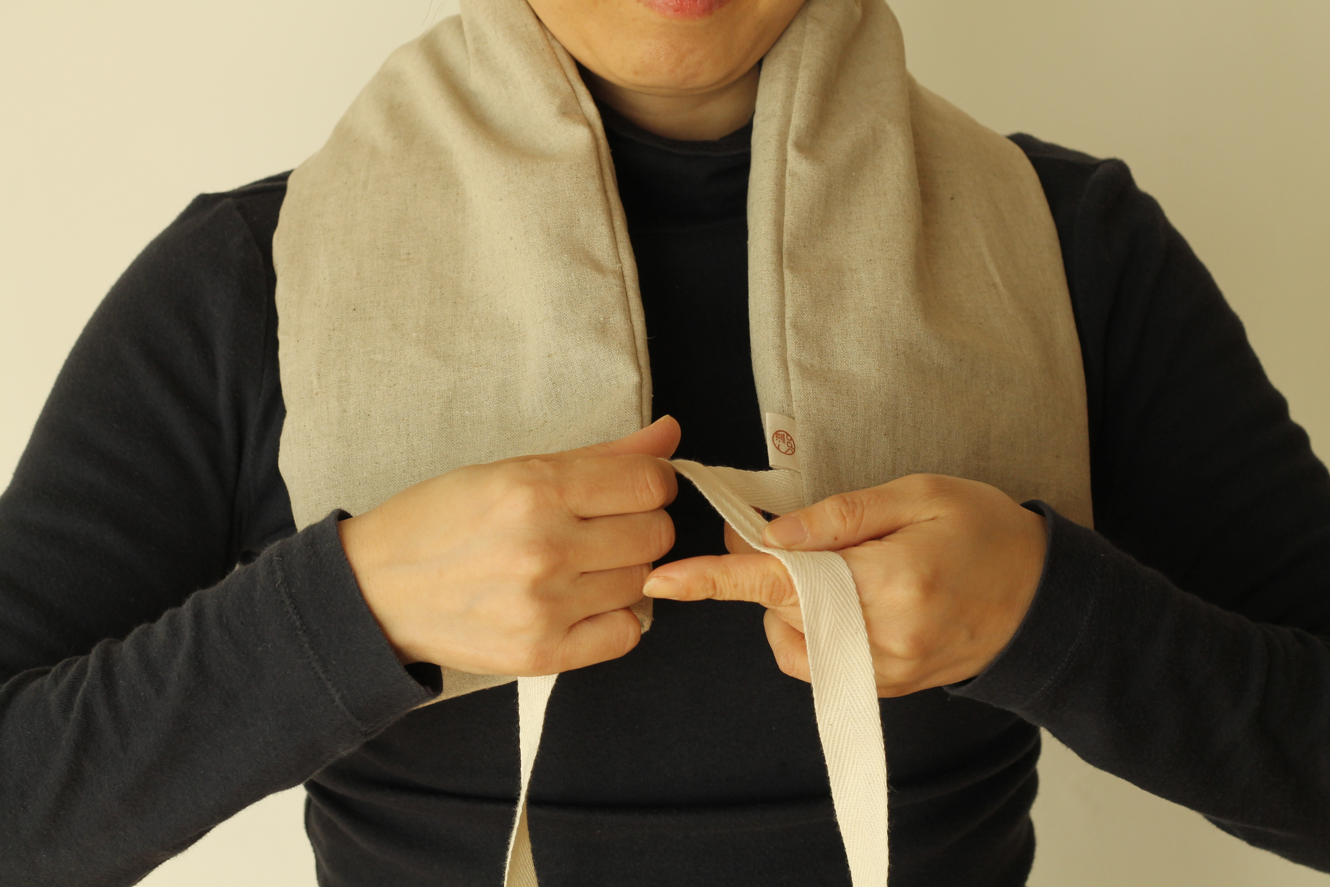 専用紐付きピローカバー
