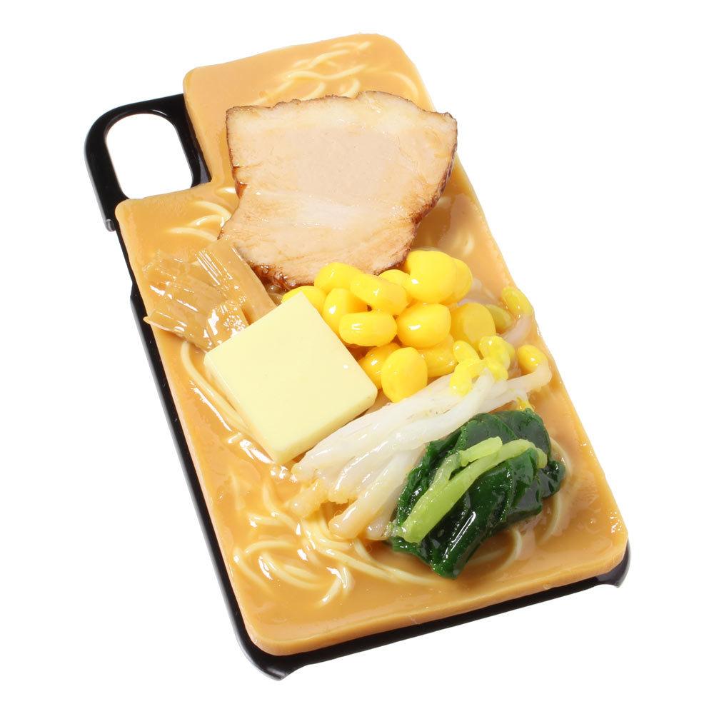 [8000]食品サンプル屋さんのスマホケース(iPhone XS、XS Max、XR:味噌ラーメン)【メール便不可】