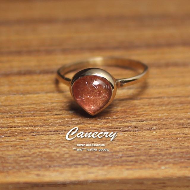 ストロベリークォーツのリング