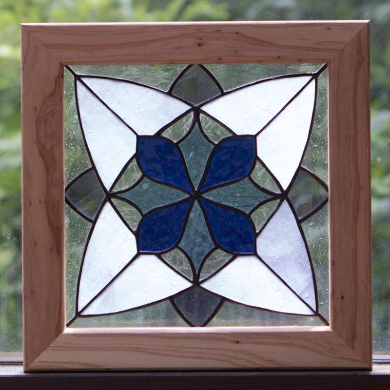 スノークリスタル(ステングラスのアートパネル) 03050107