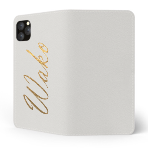 Custom Name iPhone with Premium Smooth Leather Case (Limited/8月分数量限定) Book Cover