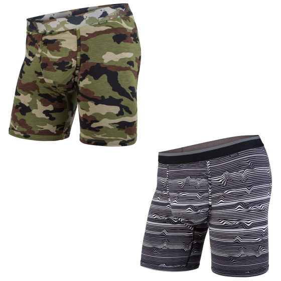 MY PAKAGE(マイパッケージ) / WEEKDAY PRINT×PRINT 2PACK / CAMO , WARP STRIPE BLACK(BOXER BRIEF)(2枚1SET)