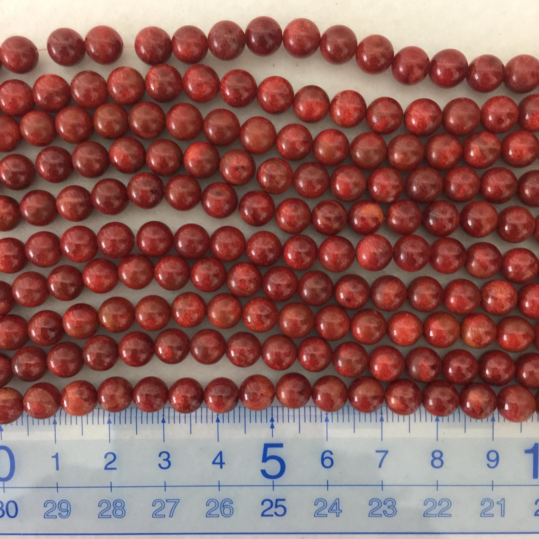 スポンジサンゴ 約6.5~7mm 濃色 連材【190014A】