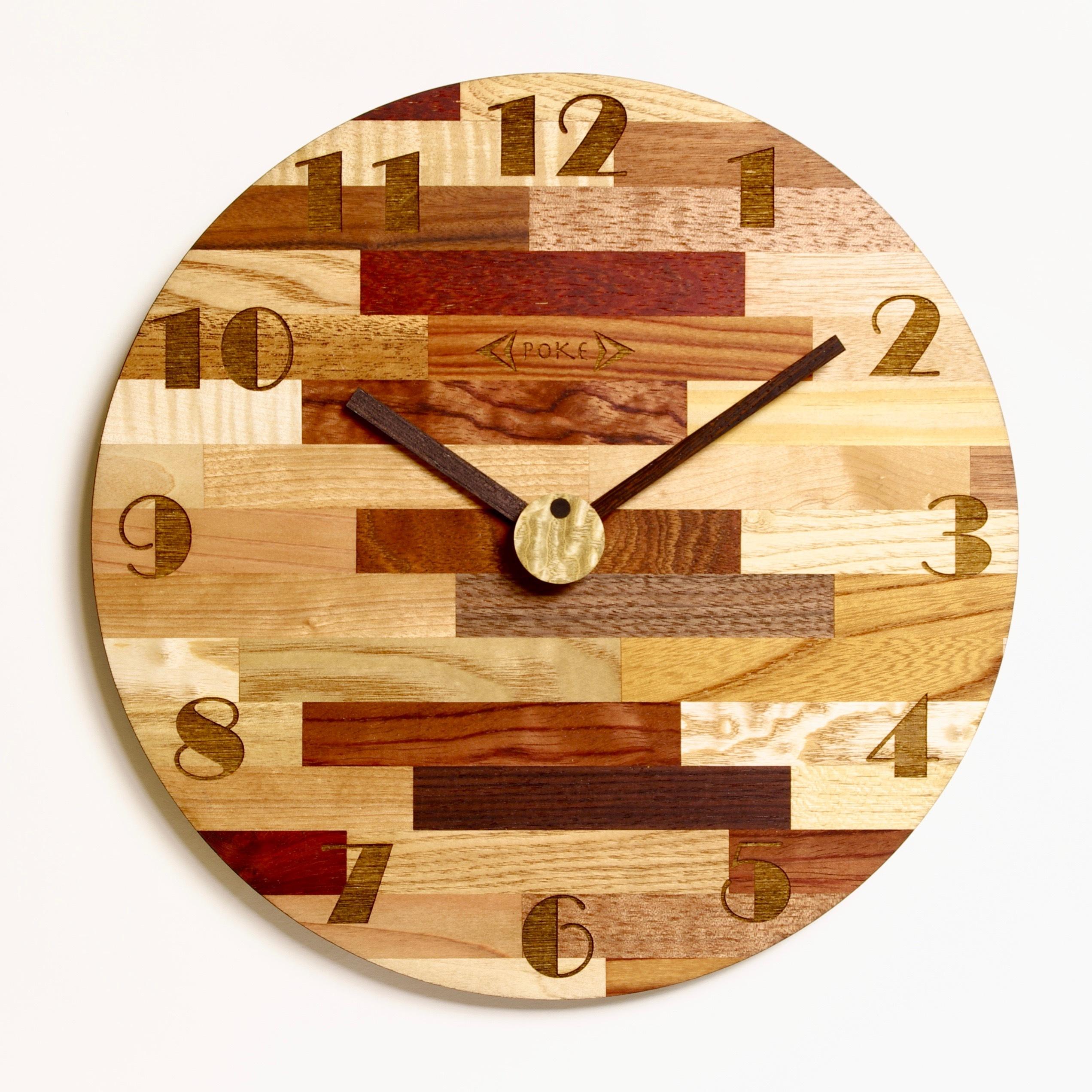 木の掛け時計 CLM-L-WM  0015