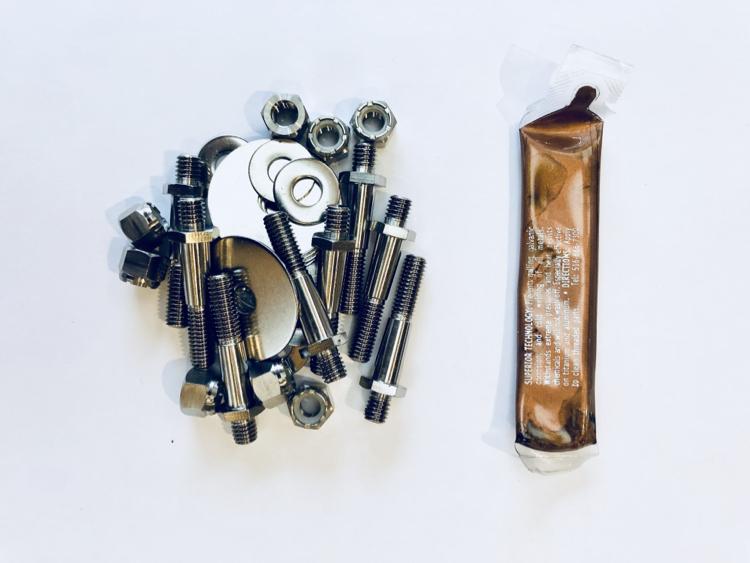 チタン合金(6AL4V) M6ボルト&ナット8本セット