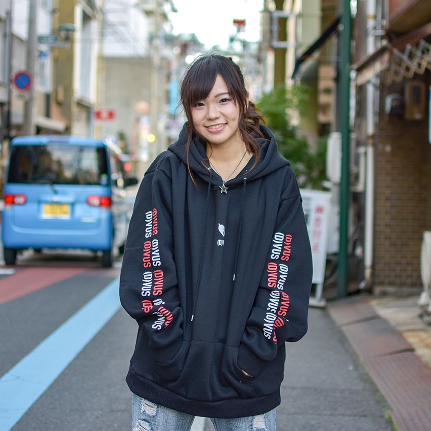 Deviluse(デビルユース) | Heartaches Pullover Hooded(Black)