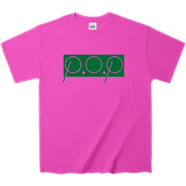 P.O.PボックスロゴTシャツ(ショッキングピンク&緑) - 画像2