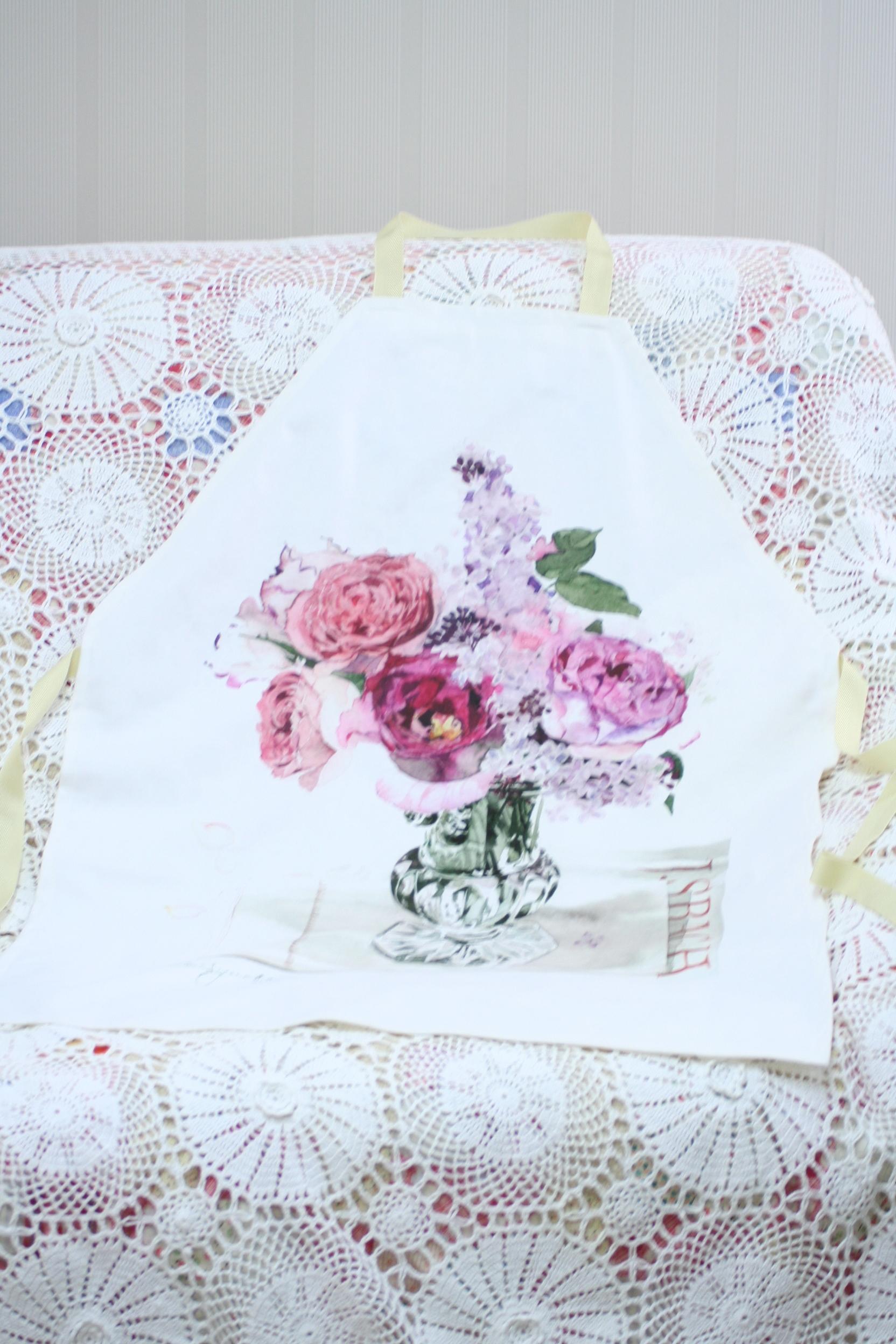 【受注生産】roses roses エプロン  ミディアムサイズ
