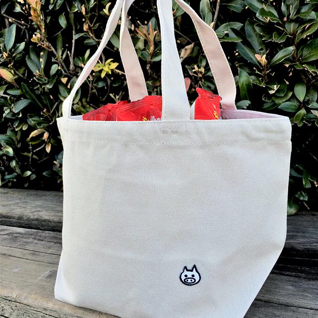 【送料100円!】けっこう入るおでかけバッグ【ライトグレー】 - 画像1