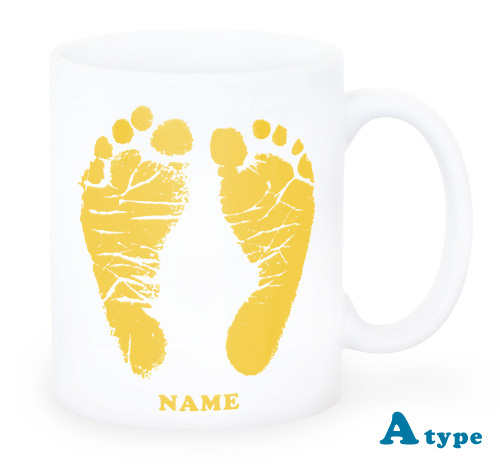ai mug-white   A-type (YELLOW) QRコード付き