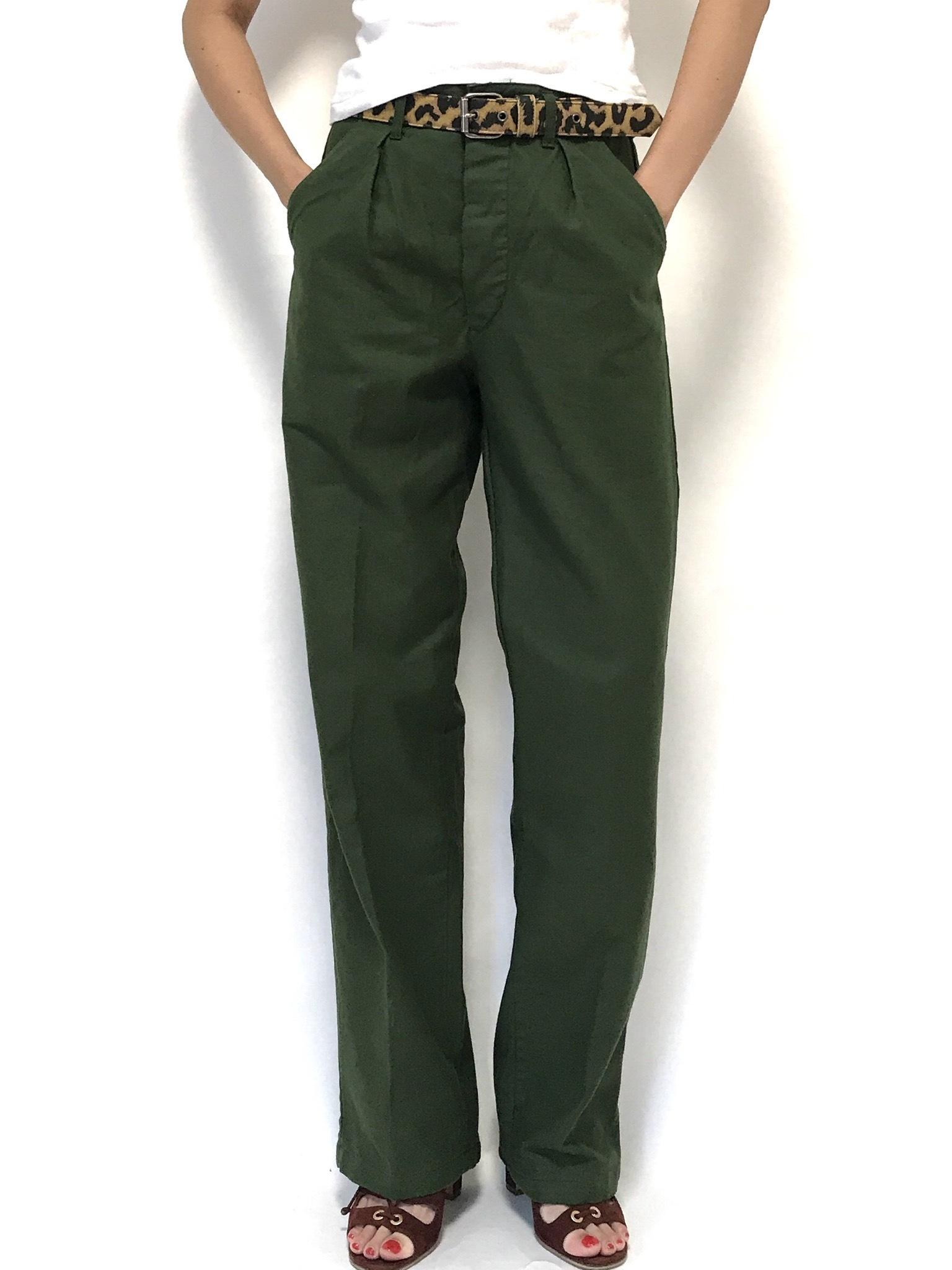 ① 70's Swedish Army Utility Pants C44