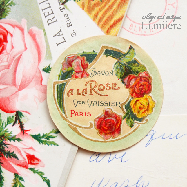 rose savon label