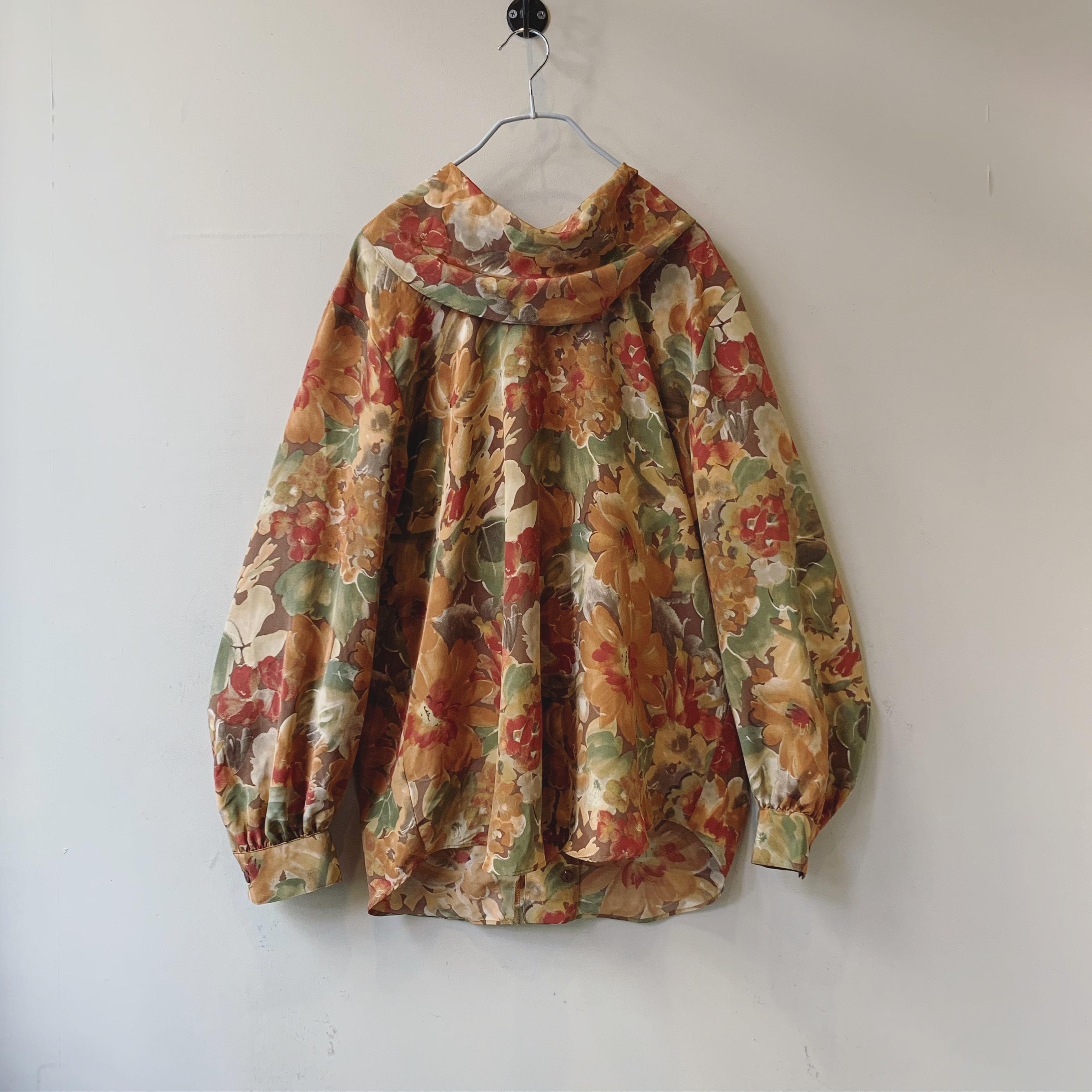 vintage balloon sleeve design blouse