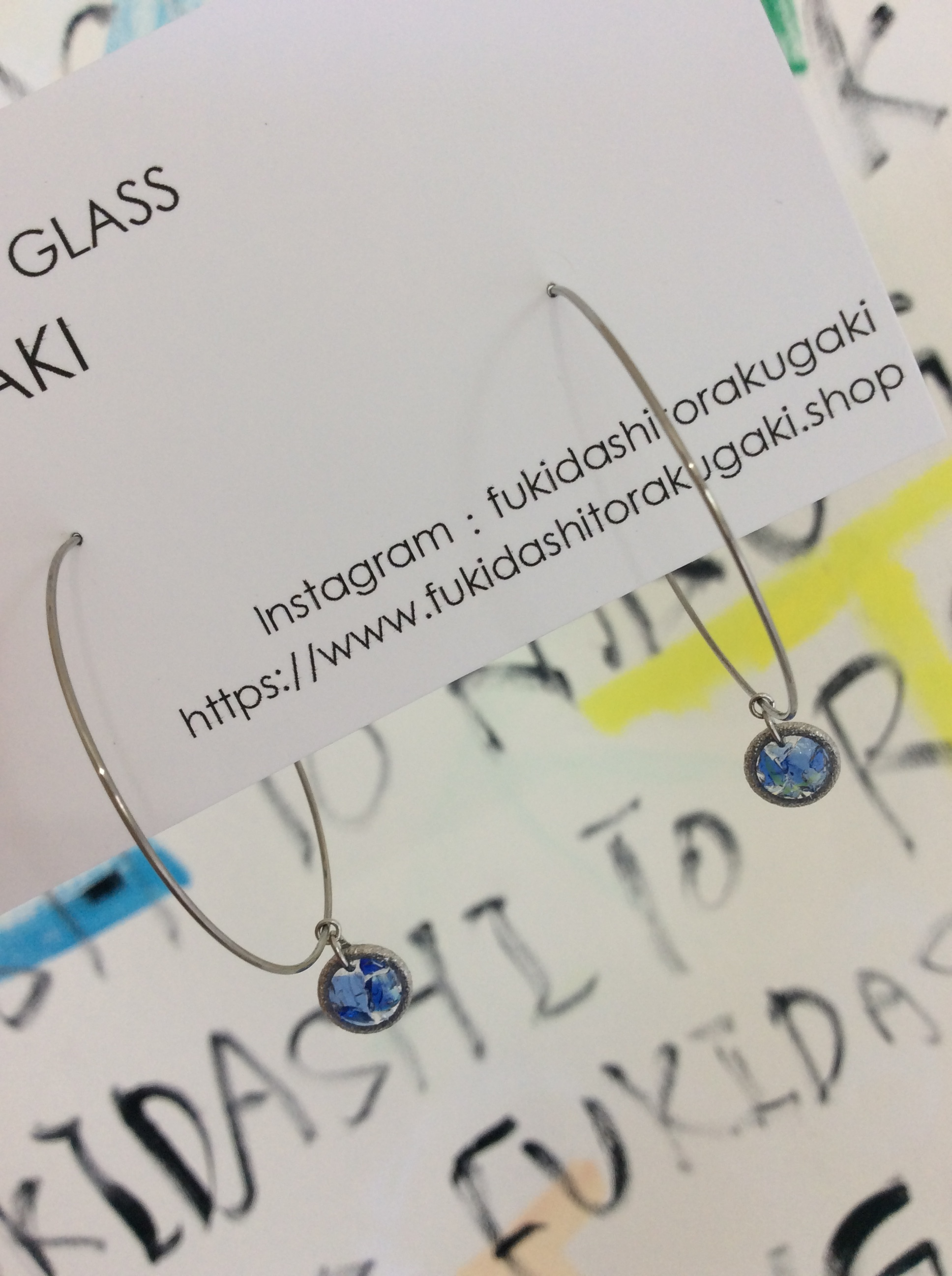 silver hoop pierce - ryukyuglass accessory-