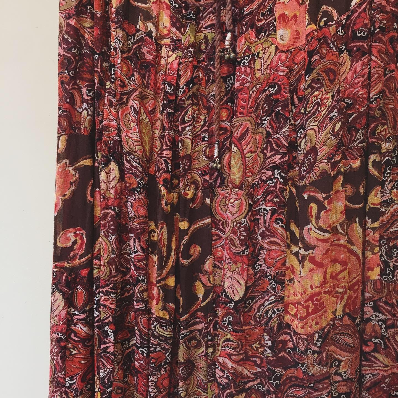 vintage patchwork paisley design skirt
