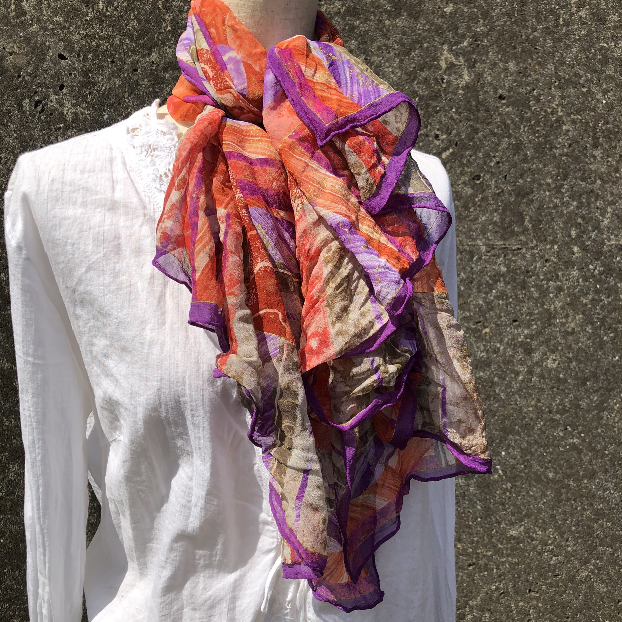 planet design scarf