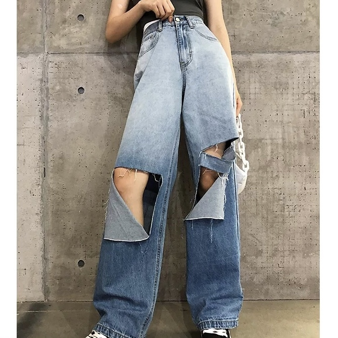 knee over cut pants