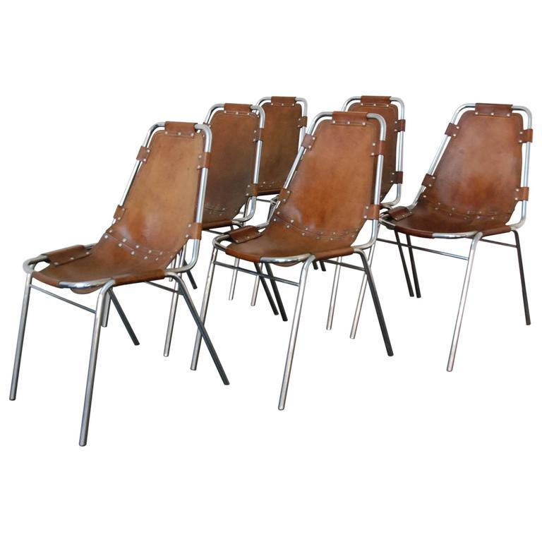 Les Arcs Chairs Selected by Charlotte Perriand レザーチェア