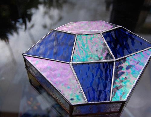 ダイヤモンド(ステンドグラスのコーヒーフィルターケース) 02080006