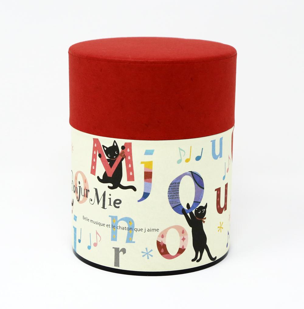 猫お茶缶(のあねこぷっくり)アルファベット