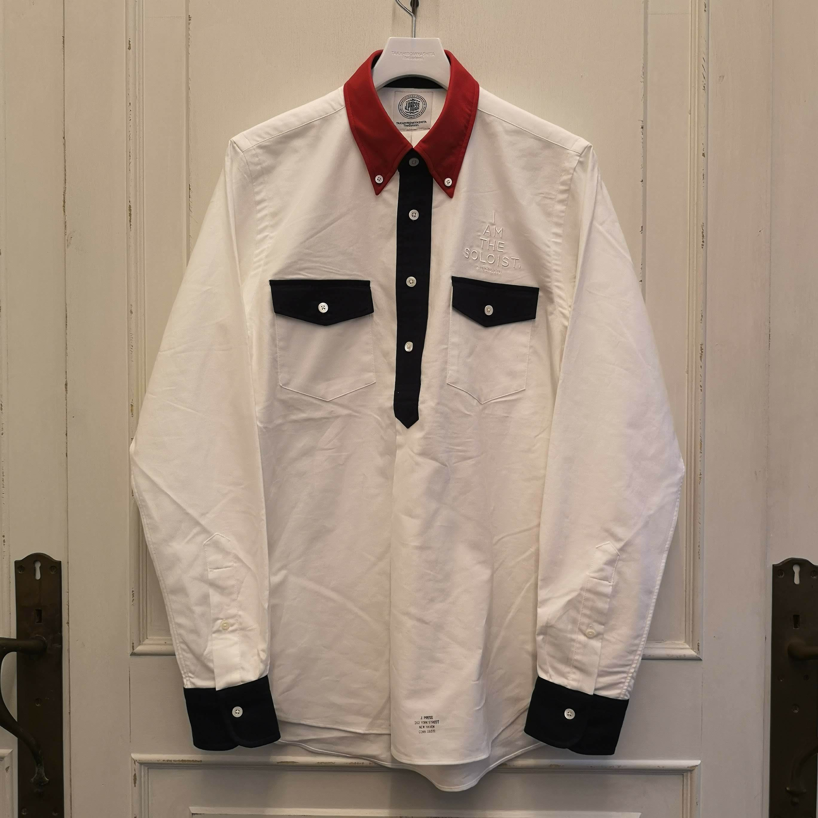 sjs.0002 double pocket pullover B.D shirt.