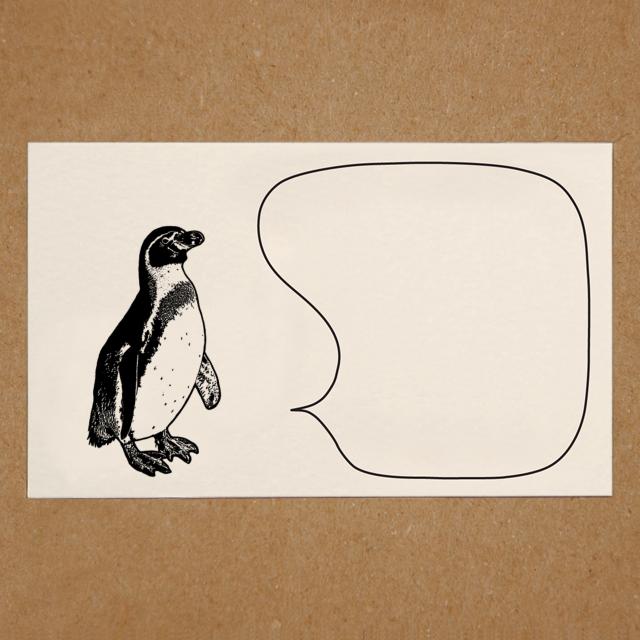 メッセージカード(ペンギン)