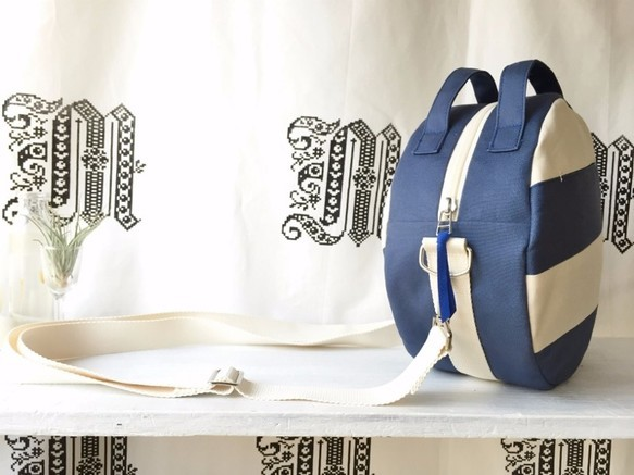 【受注製作】DOTLINE BAG | BLUE×ECRU