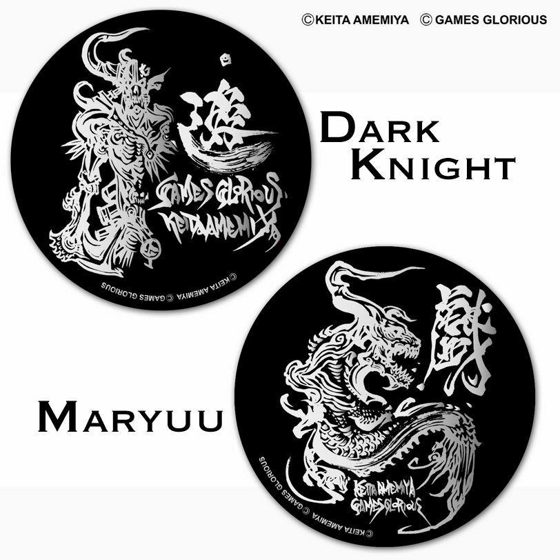 【 KEITAAMEMIYA x GAMES GLORIOUS 】 KEITA AMEMIYA Steel badge (2種類) / GAMES GLORIOUS