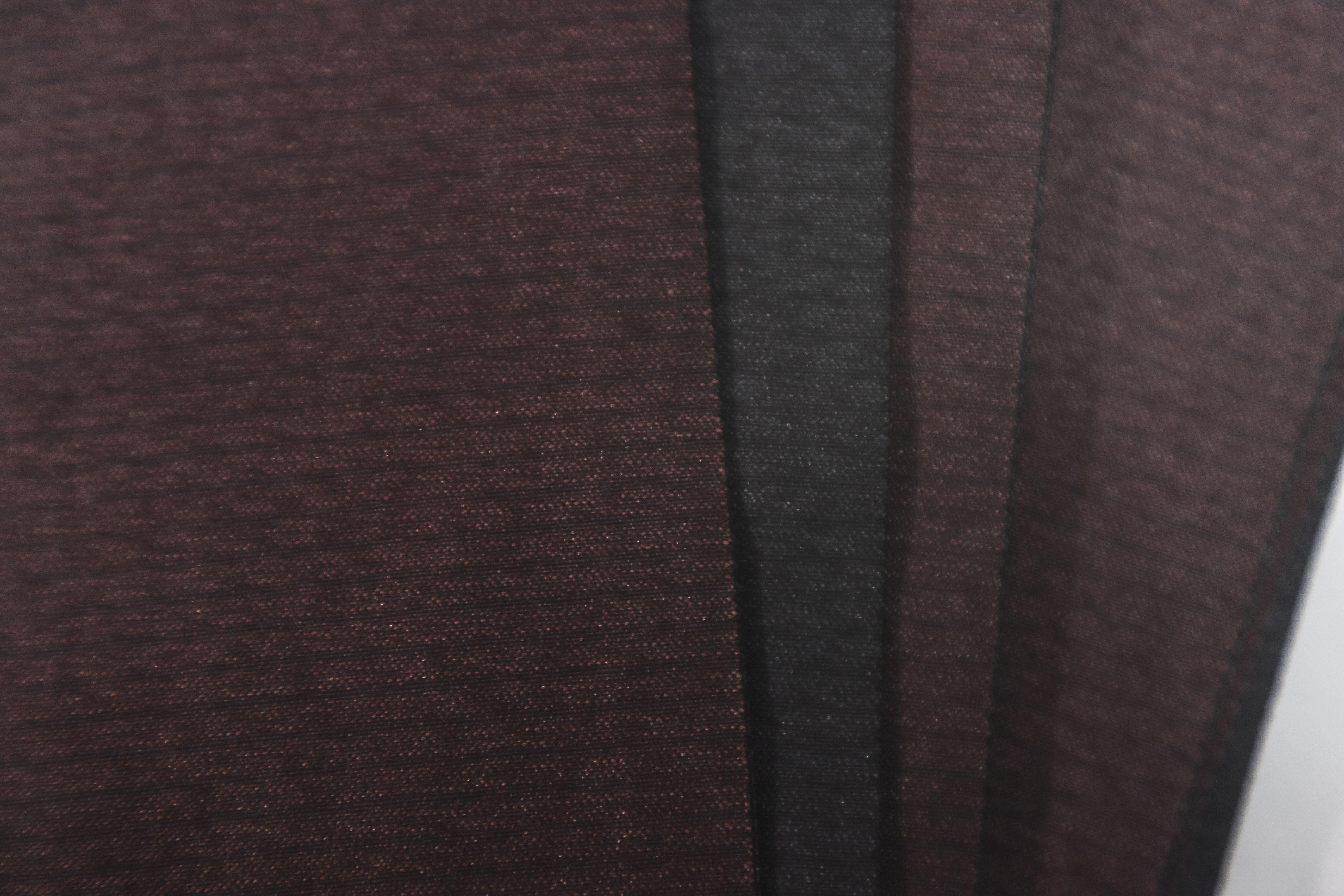 杢上代角帯-無地 赤×黒