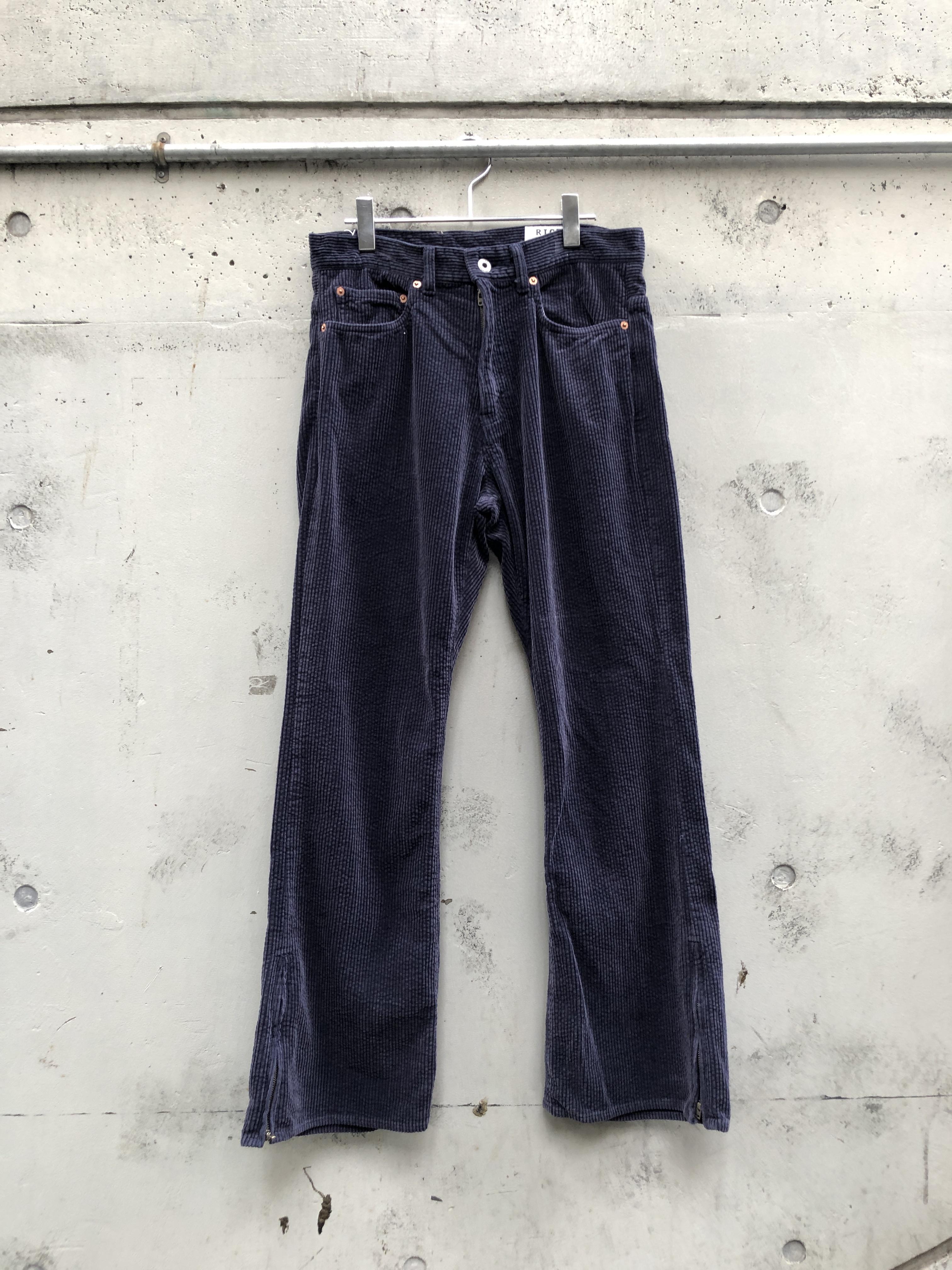 『RICE NINE TEN』corduroy bio washed bootcut pants / NAVY