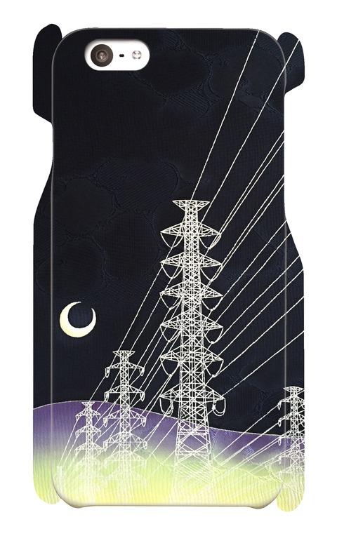 iPhone6/6s ケース 鉄塔と月
