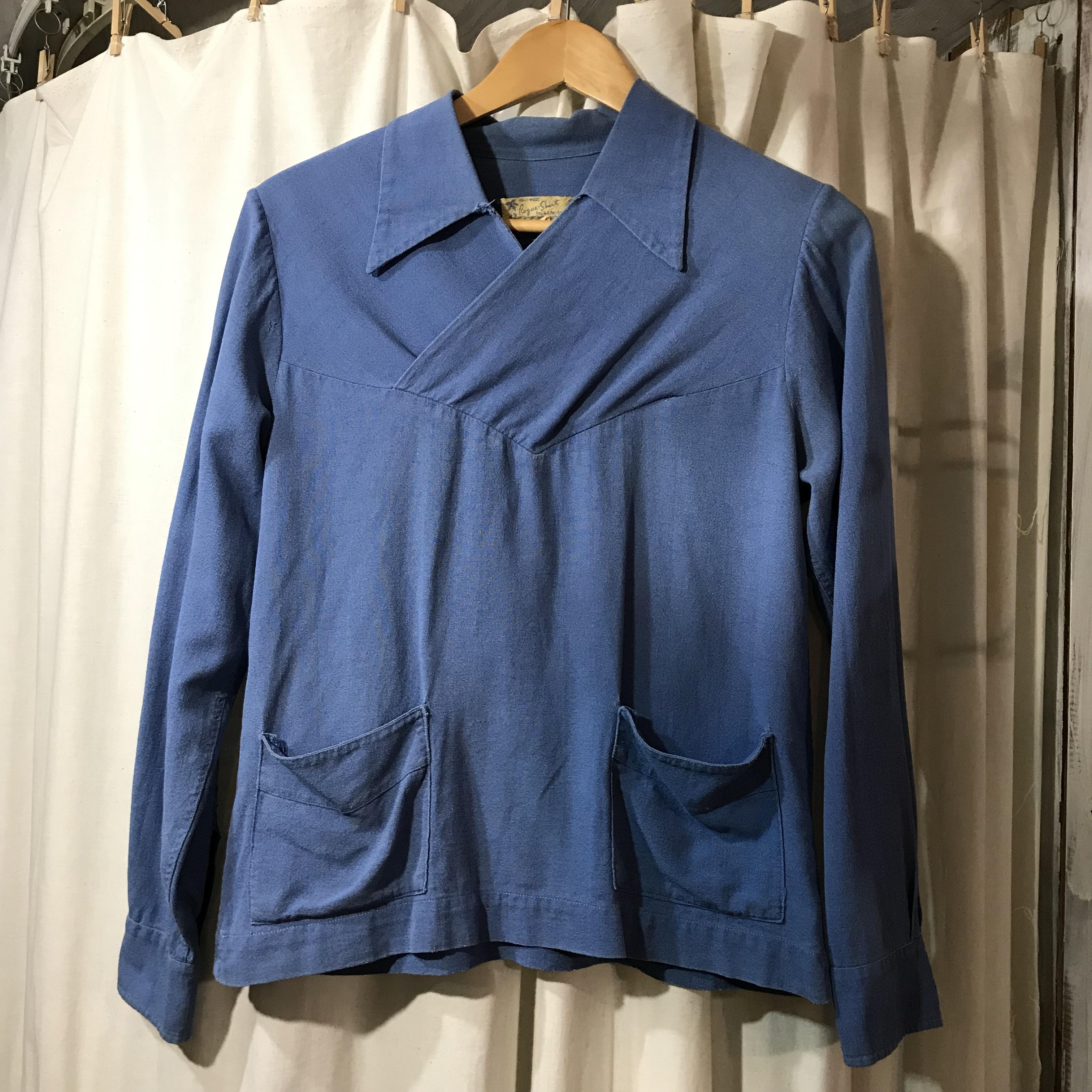 ~70's vintage Rogue-Shirts プルオーバーシャツ メンズS~M