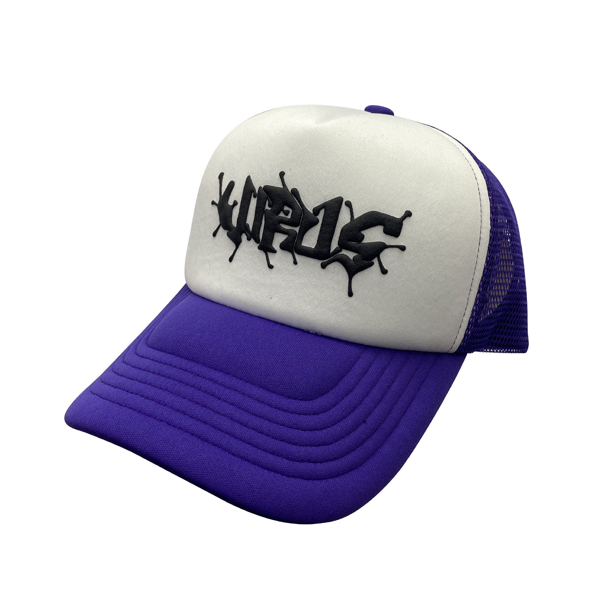 VIRUS WORLD Virus Logo Mesh Cap PURPLE