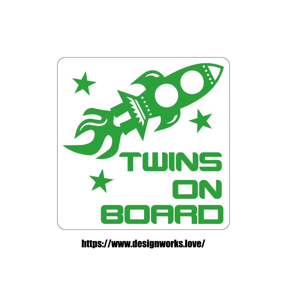 マグネット 全8色 TWINS ON BOARD スペースシャトル 宇宙船