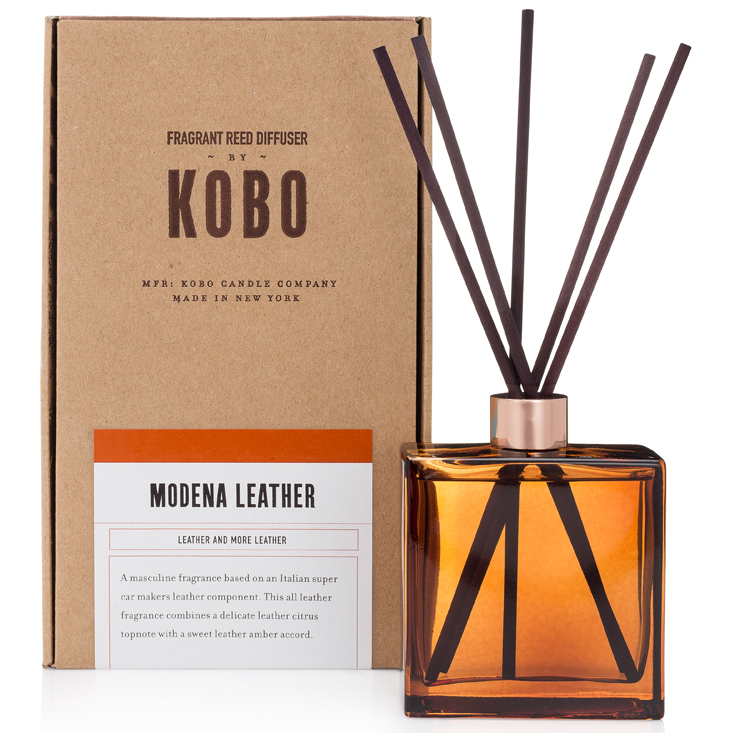 MODENA LEATHER - WOODBLOCK REED DIFFUSERS